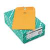 Quality Park Clasp Envelope, 7 x 10, 28lb, Brown Kraft, 100/Box