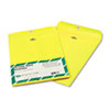 Quality Park Fashion Color Clasp Envelope, 9 x 12, 28lb, Yellow, 10/Pack