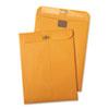 Quality Park Postage Saving ClearClasp Kraft Envelopes, 9 x 12, Brown Kraft, 100/Box