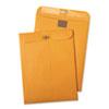 Quality Park Postage Saving ClearClasp Kraft Envelopes, 10 x 13, Brown Kraft, 100/Box
