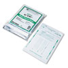 Poly Night Deposit Bags w/Tear-Off Receipt, 8.5 x 10-1/2, Opaque, 100 Bags/Pack