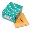 Quality Park Open Side Booklet Envelope, Traditional, 12 x 10, Brown Kraft, 100/Box