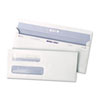 Reveal-N-Seal Double Window Check Envelope, Self-Adhesive, White, 500/Box