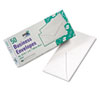 White Wove Business Envelope Convenience Packs, V-Flap, #10, 50/Box