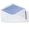 Quality Park White Wove Security Business Envelope Convenience Packs, V-Flap, #10, 40/Box