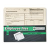 Employee Record Folder, Top Tab, Letter, Manila, 20/Pack