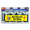 Alkaline Batteries, D, 8/Pack