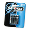 Alkaline Batteries, AAA, 4/Pack