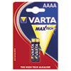 Varta Alkaline High Energy Batteries, AAAA, 2/Pack