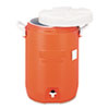 Rubbermaid Commercial Insulated Water Cooler, 5 Gal, Orange, 10