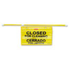 Site Safety Hanging Sign, 50&quot; x 1&quot; x 13&quot;, Multi-Lingual, Yellow