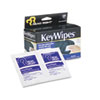KeyWipes Keyboard &amp; Hand Cleaner Wet Wipes, 5 x 6 7/8, 18/Box
