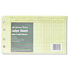 National Brand Extra Sheets for Four-Ring Ledger Binder, 5 x 8-1/2, 100/Pack