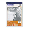Receiving Record Book, 5 1/2 x 7 7/8, Two-Part Carbonless, 50 Sets/Book