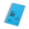National Brand Wirebound Memo Book, Narrow Rule, 3 x 5, White, 60 Sheets/Pad