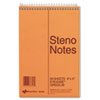 Standard Spiral Steno Book, Gregg Rule, 6 x 9, Green, 60 Sheets/Pad