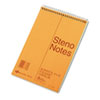 National Brand Standard Spiral Steno Book, Gregg Rule, 6 x 9, Green, 80 Sheets/Pad