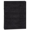Exec Wirebound Notebook, College/Margin Rule, 9-1/4 x 7-1/4, BLK, 75 Sheets
