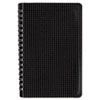 Poly Cover Notebook, 6 x 9 3/8, 80 Sheets, Ruled, Twin Wire Binding, Black Cover