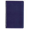 Poly Cover Notebook, 6 x 9 3/8, 80 Sheets, Ruled, Twin Wire Binding, Blue Cover