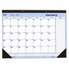 Monthly Desk Pad, Chipboard, 21 3/4 x 17