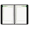 EcoLogix Recycled Daily Planner, 30-Minute Appts., Wirebound, 8 x 5, Black, 2013