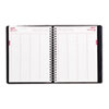 Essential 4-Person Daily Appointment Book, 8-1/2 x 11, Black, 2013