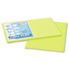 Tru-Ray Construction Paper, 76 lbs., 12 x 18, Brilliant Lime, 50 Sheets/Pack