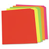 Neon Color Poster Board, 28 x 22, Green/Pink/Red/Yellow, 25/Carton