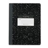 Marble Cover Wide Rule Composition Book, 9-3/4 x 7-1/2, 100 Pages