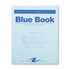 Exam Blue Book, Wide Rule, 8-1/2 x 7, White, 12 Sheets/24 Pages