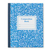 Grade School Ruled Composition Book, 9-3/4 x 7-3/4, Blue Cover, 50 Pages