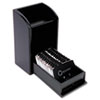 Rolodex Wood Tones Photo Frame Business Card File Holds 300 2 1/4 x 4 Cards, Black