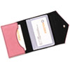 Rolodex Resilient Personal Card Case, Faux Leather, 3-1/2 x 2-1/2, Pink