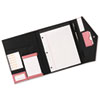 Pad Folio, Faux Leather, Snap Close, Legal Size Pad, Resilient Pink