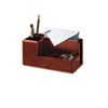 Rolodex Wood Tones Desk Organizer, Wood, 4 1/4 x 8 3/4 x 4 1/8, Mahogany