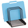 Rolodex Mesh Flip File Folder Sorter, Five Sections, Black, 10 1/4 x 7 1/2 x 7 1/2