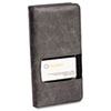 Rolodex Identity Business Card Book, 96-Card Capacity, Black/Gray