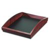 Executive Woodline II Front Loading Single Letter Desk Tray, Wood, Mahogany