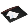 Rolodex Executive Woodline II Desk Pad, 25 1/4 x 19 7/8 x 3/4, Mahogany