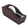 "Executive Woodline II Desktop Tape Dispenser, 1"" core, Solid Wood, Mahogany"