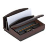 Rolodex Desk Organizer, Three Sections, Wood, 10w x 5 7/8d x 8 5/8h, Mahogany