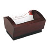 Executive Woodline II Business Card Holder for 100 2 1/4 x 4 Cards, Mahogany