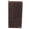 Explorer Leather Business Card Book, 96-Card Capacity, 5 x 10 1/8, Brown