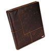 Explorer Leather Organizer Business Card Book, 240-Card Cap., 11 x 13 1/2, Brown