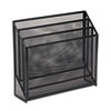 Mesh Three-Tier Organizer, 12 3/4 x 3 1/2 x 11 1/2, Black