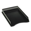 Distinctions Self-Stacking Desk Tray, Metal/Black