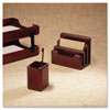 Rolodex Wood Tones Pencil Cup, Mahogany, 3 1/8 x 3 1/8 x 4 1/2