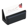 Wood Tones Business Card Holder, Capacity 50 2 1/4 x 4 Cards, Black