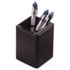 Rolodex Wood Tones Pencil Cup, Black, 2 3/4 x 2 3/4 x 4